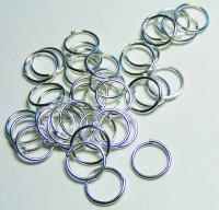 40 x Silver Plated Ring 8 mm