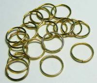35 x Gold Tone Ring 8 mm