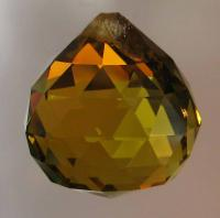 Small TOPAZ Crystal Ball 2 cm